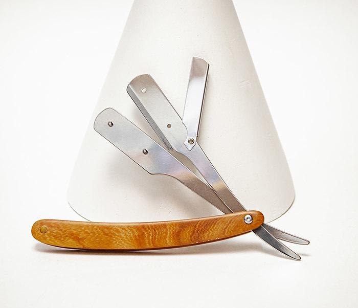 RAZ528-1 Бритва шаветка с рукояткой из дерева фото 04