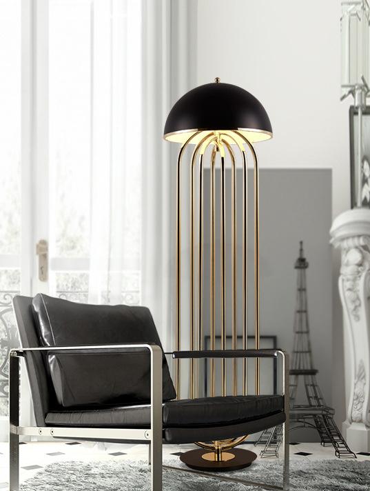 Напольный светильник копия Turner by Delightfull (белый)