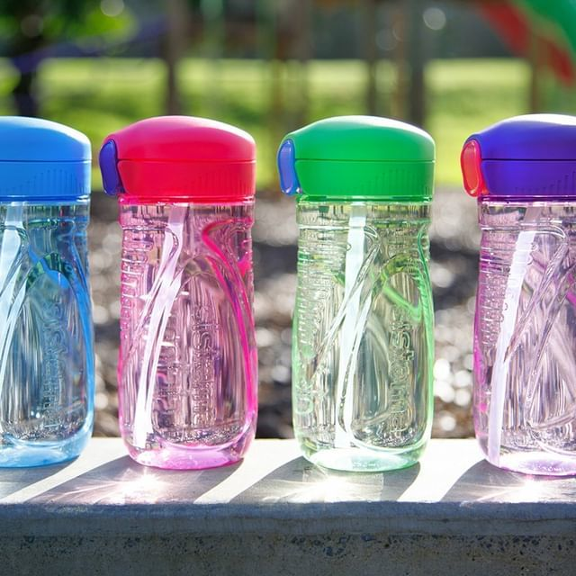 "Бутылка для воды с трубочкой Sistema ""Hydrate"", Тритан, 520 мл, цвет Фиолетовый"