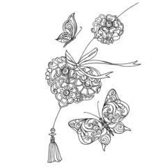 Раскраска для скетчинга антистресс альбом Сонет