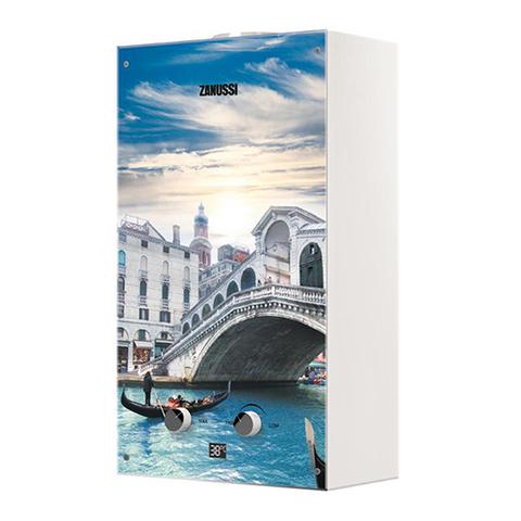 Водонагреватель газовый проточный Zanussi Fonte Glass GWH 10 (с изображением моста Риальто)