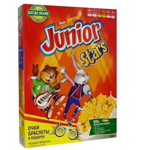 Компас здоровья завтрак Junior Stars звездочки медовые, 200 г