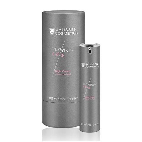 Реструктурирующий ночной крем с пептидами и коллоидной платиной Night Cream, Platinum Care, Janssen Cosmetics, 50 мл