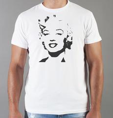 Футболка с принтом Мэрилин Монро  (Marilyn Monroe) белая 0013