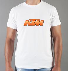 Футболка с принтом KTM (KTM AG) белая 007