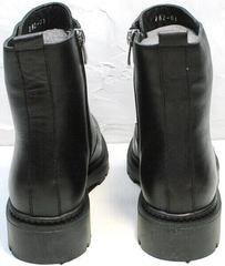 Грубые женские ботинки на широком каблуке Misss Roy 252-01 Black Leather.