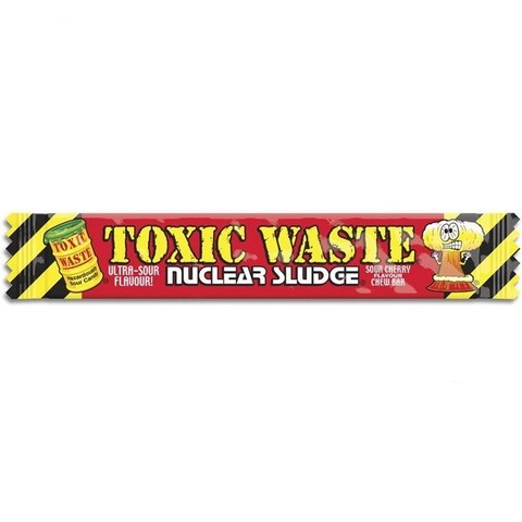 Жевательная конфета Toxic Waste Nuclear sludge со вкусом Вишни 20 гр