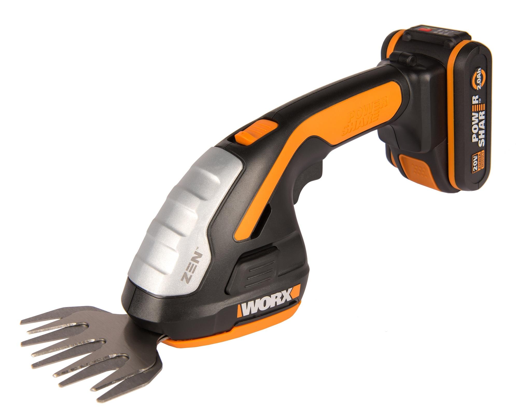Ножницы для стрижки травы и кустарников WORX WG801E 20В, 2Ач х1 и ЗУ, коробка