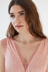 Коротка нічна сорочка з принтом