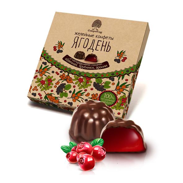 Мармелад Ягодень в шоколадной глазури ассорти Сибирский Кедр 200 г