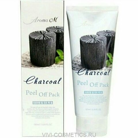 Чёрная маска-плёнка| AROMA M CHARCOAL PEEL OFF PACK (180ml)