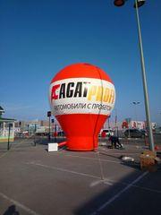 Рекламный шар на опоре 7 метров