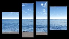"""Модульная картина """"Морские волны"""""""