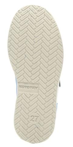 Полуботинки на липучках для мальчиков Котофей 432129-21, цвет голубой. Изображение 6 из 7.
