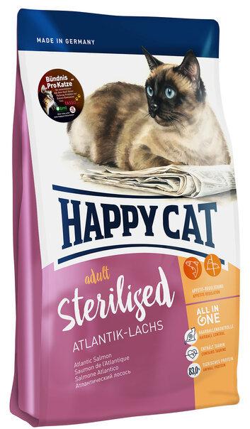 купить Happy Cat Supreme Sterilised Atlantik Lachs сухой корм для кастрированных котов и стерилизованных кошек с атлантическим лососем