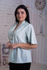Хильда. Нежная женская блуза больших размеров. Мята
