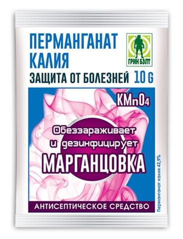 Перманганат калия (марганцовка) пакет 10г Грин Бэлт