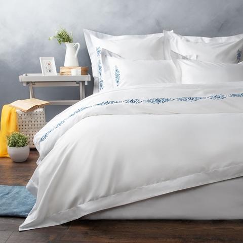 Комплект постельного белья сатин Алиум белый