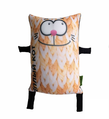 Подушка-игрушка антистресс Gekoko «Теплый кот», оранжевый 2