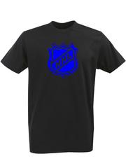 Футболка с однотонным принтом НХЛ (NHL) черная 0028