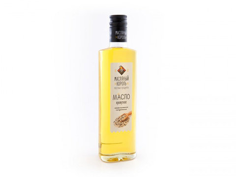 Масляный король масло кунжутное стеклянная бутылка 0,35 л