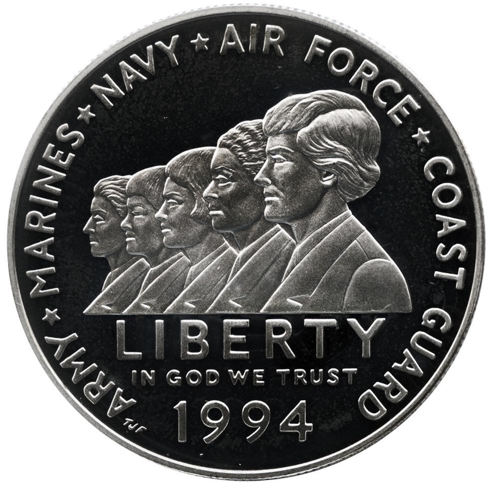 1 доллар США Мемориал женщинам на военной службе (P) 1994 год PROOF