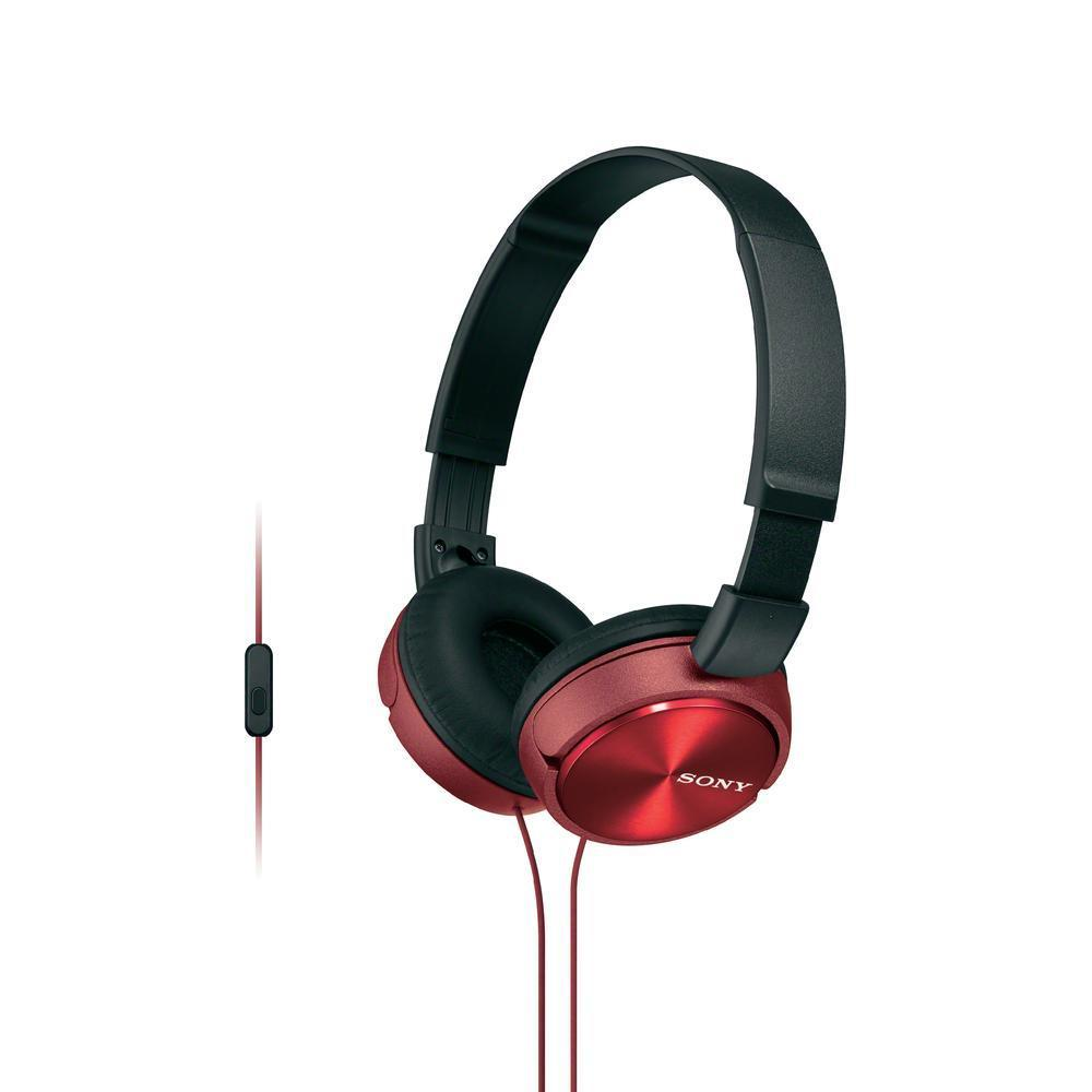 MDR-ZX310AP R наушники Sony с микрофоном, красные