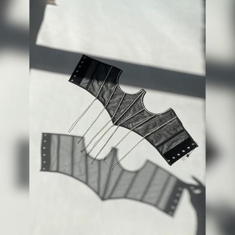 Roze Корсаж с подвесками из страз Черный S