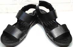 Кожаные мужские сандали босоножки в спортивном стиле Zlett 7083 Black.