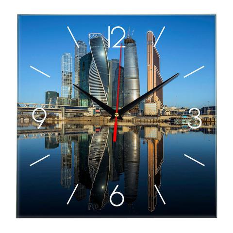 Печать под стеклом часы Москва Сити 18 07