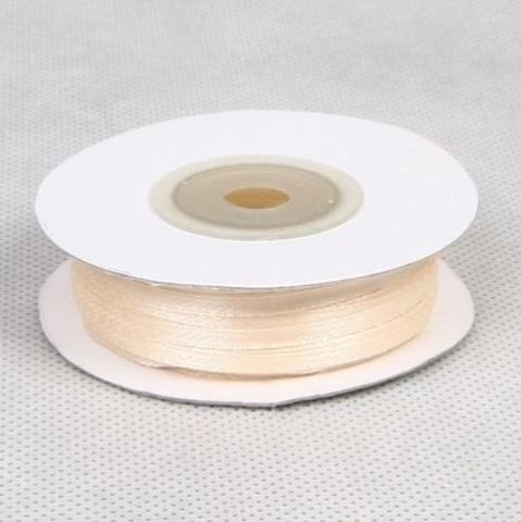 Лента атласная (размер: 3 мм х 50 м) Цвет: кремовая