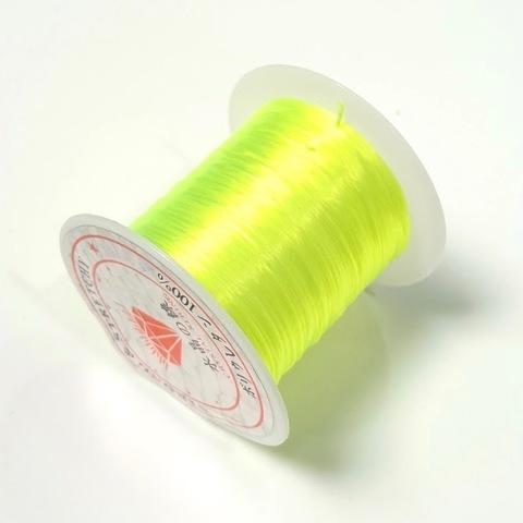Спандекс резинка для браслетов 0,8 мм (без оплетки) желтый неон