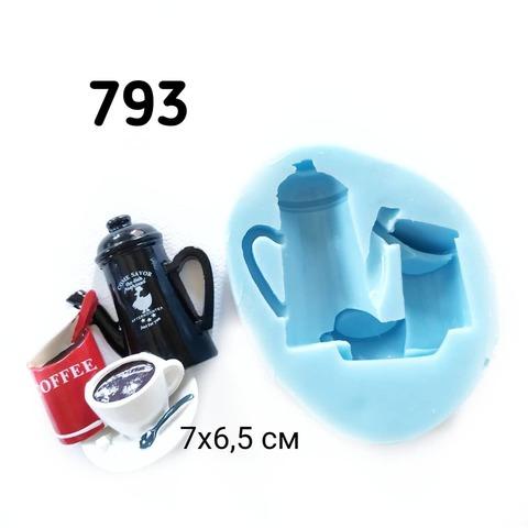 0793 Молд силиконовый. Кофейный набор.