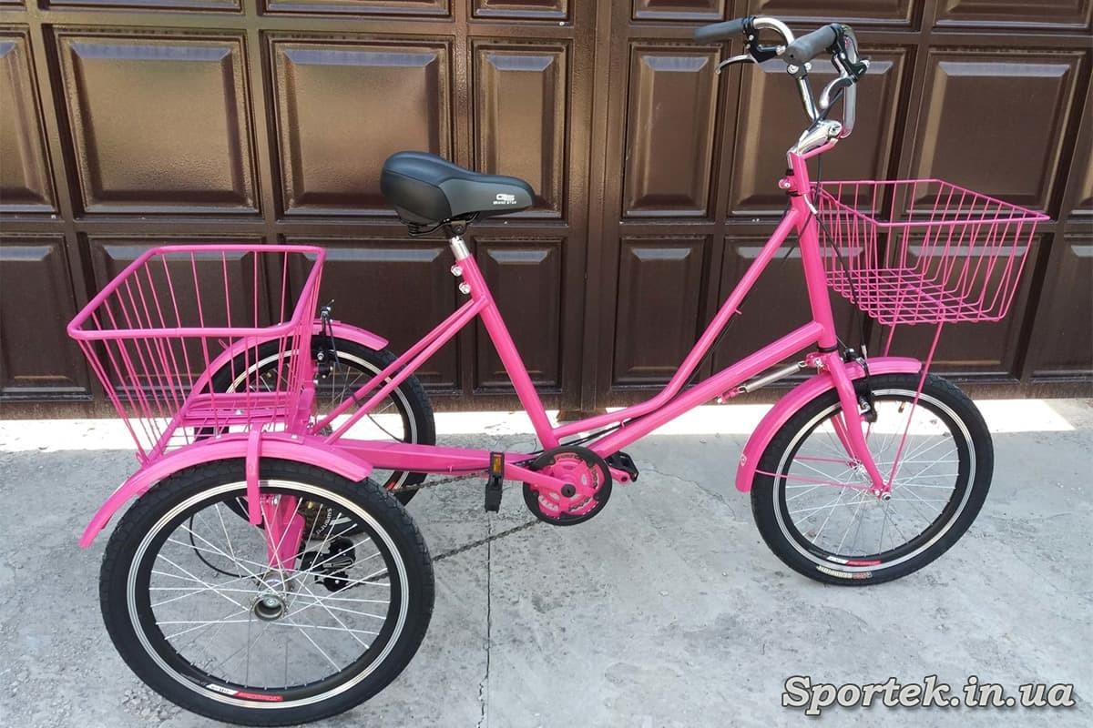 Трехколесный велосипед 'Городской с корзинкой 20' с передней корзинкой