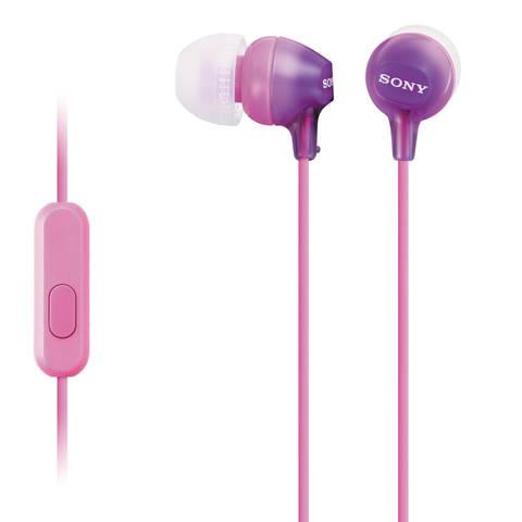 MDR-EX15AP V наушники Sony с микрофоном, фиолетовые