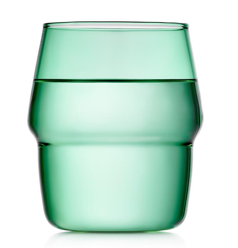 Стаканы (двойной стакан) Стакан 350 мл, стеклянный зеленый, прозрачный цветной 020-350g.PNG