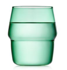 Стакан 350 мл, стеклянный зеленый, прозрачный цветной