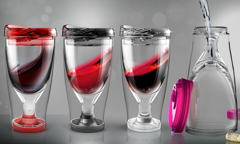 Бокал Asobu Ice vino 2go (0,48 литра), розовый