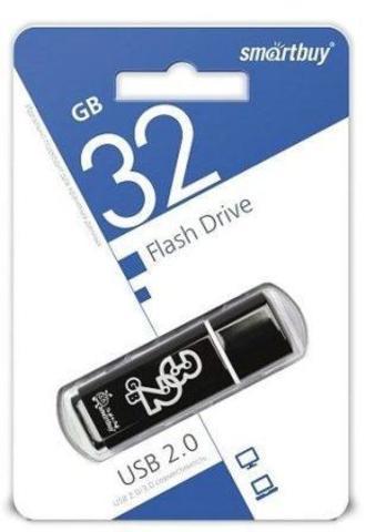 Флеш-накопитель USB  32GB  Smart Buy Glossy черный