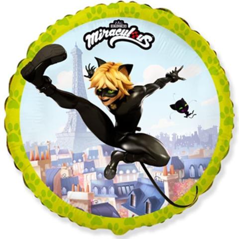 Фольгированный шар Леди Баг летящий супер кот