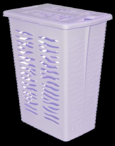 Корзина д/белья Aqua 30л 38х26,5х49,5см йогуртовый,пластик