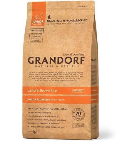 Grandorf ягненок с рисом для юниоров 12 кг