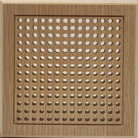 Решетка декоративная деревянная на магнитах Пересвет К-05 150х150мм