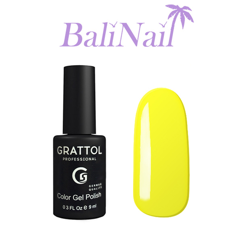 Grattol Color Gel Polish Yellow - гель-лак 034, 9 мл