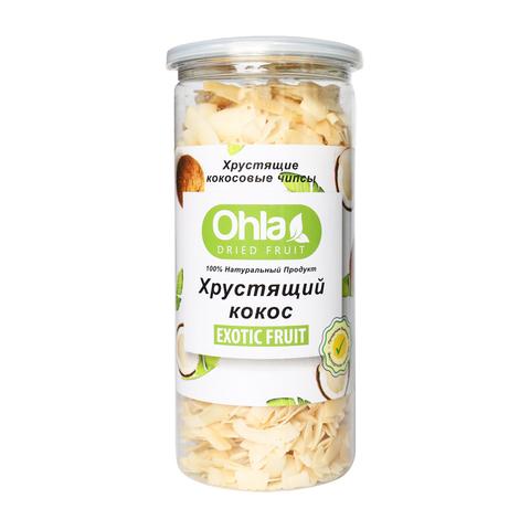 Натуральный сушеный хрустящий кокос Ohla, 300 г.