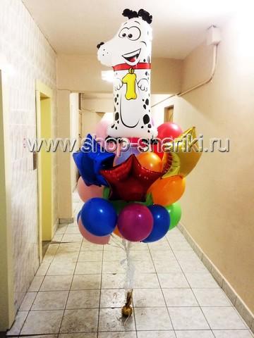 shop-shariki.ru фонтан из шаров на 1 год с далматинцем
