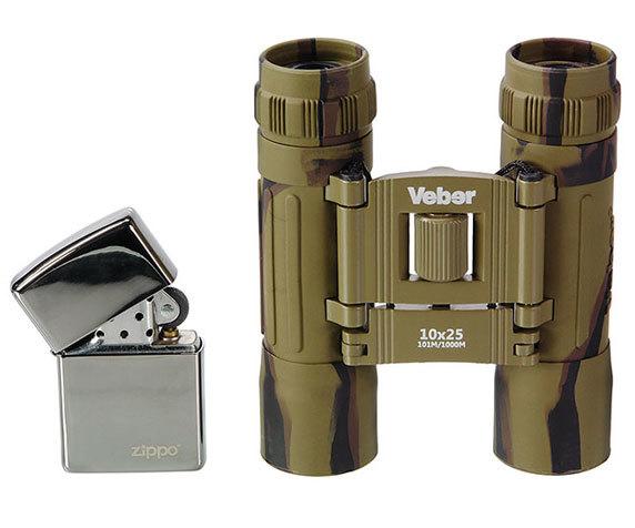 Бинокль Veber Sport БН 10x25 camo - фото 2