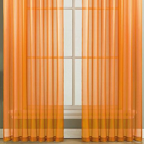 Тюль вуаль на шторной ленте. Апельсиновый. оптом. Арт. Kv313