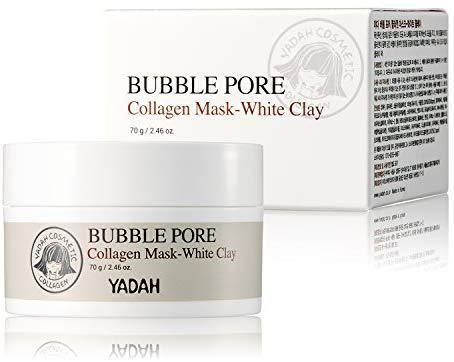 Маска кислородная для лица Yadah Bubble Pore Collagen Mask-White Clay 70 мл