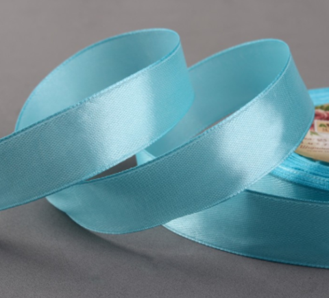Лента атласная,цвет голубой,20мм*23±1м